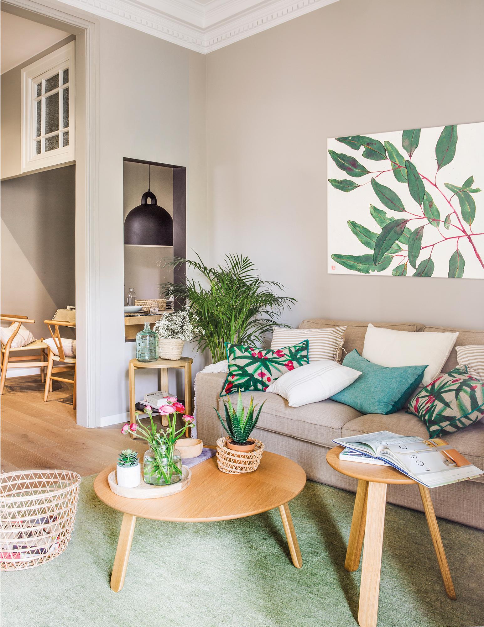 Decorar con flores plantas y motivos vegetales - Cuadros para casas modernas ...