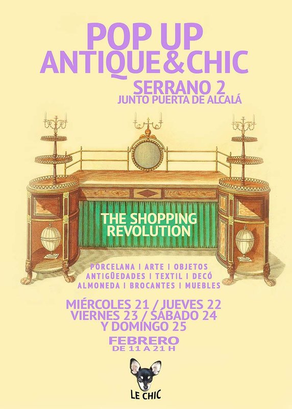 Cartel feria Antique and Chic Madrid 2018. Antique & Chic