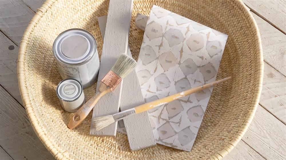 C mo pintar un sal n comedor con muebles de fibra natural - Muebles naturales para pintar ...