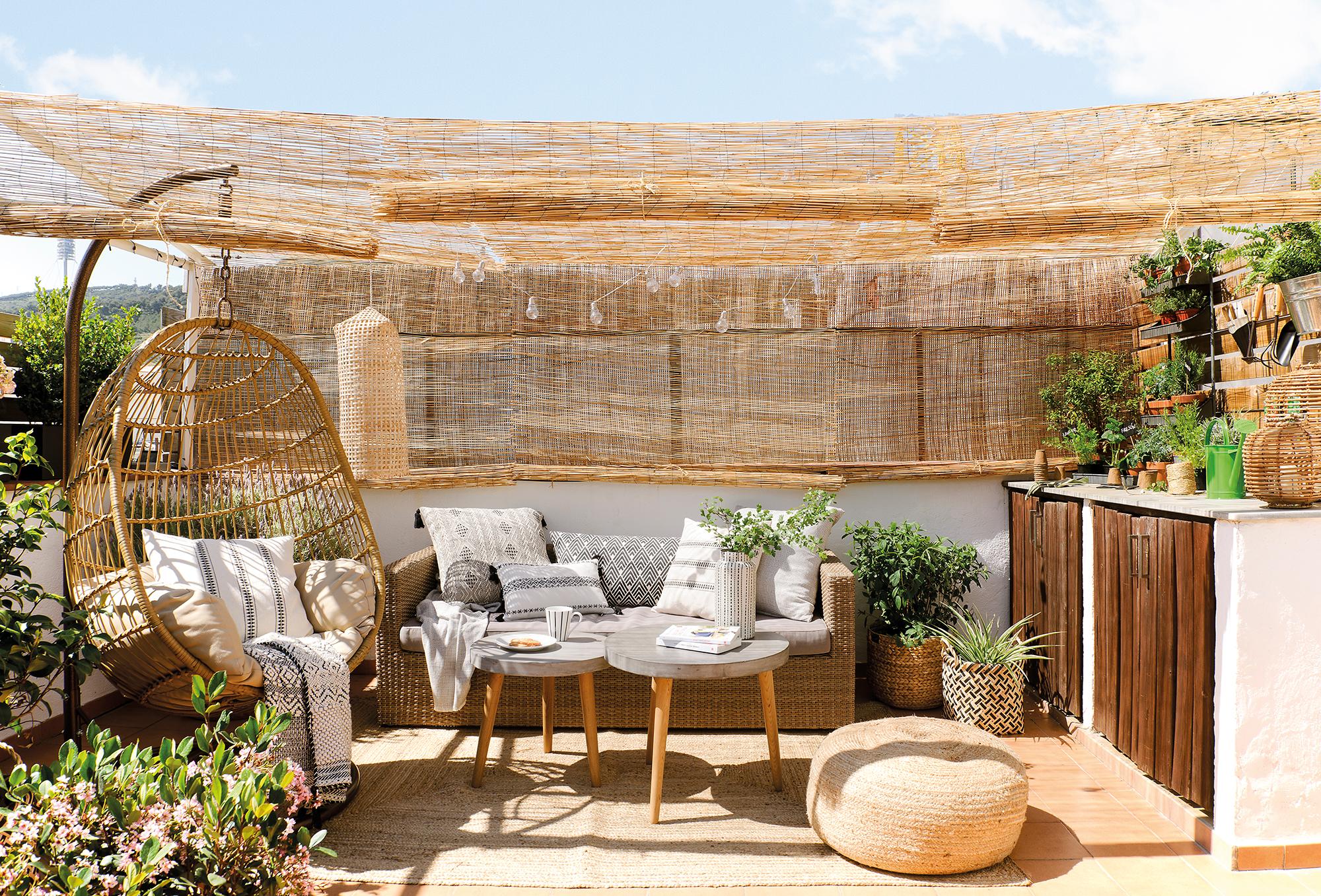 422 fotos de terrazas for Mesa de terraza con quitasol