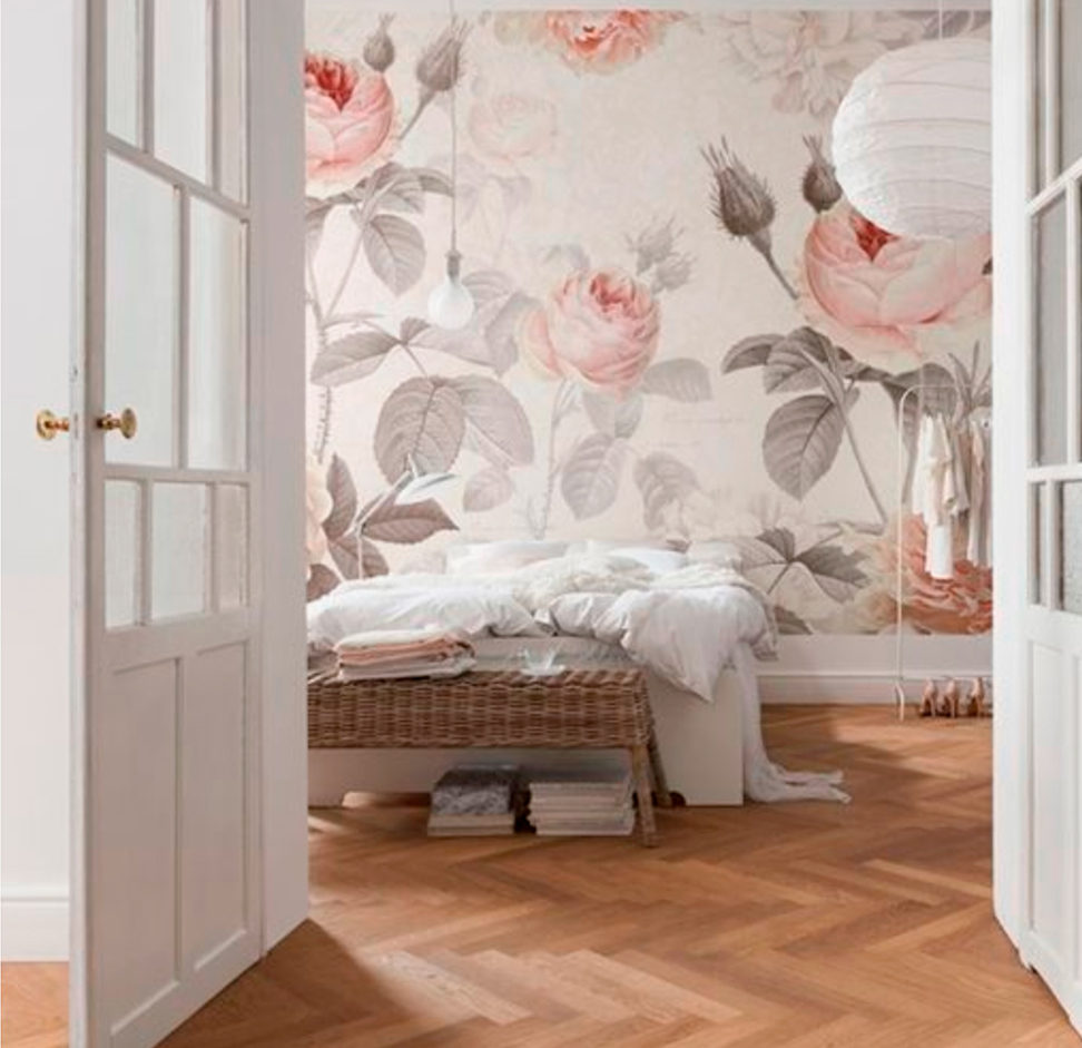 Papel pintado c mo decorar con papel pintado para paredes elmueble - Papel pintado dormitorio principal ...