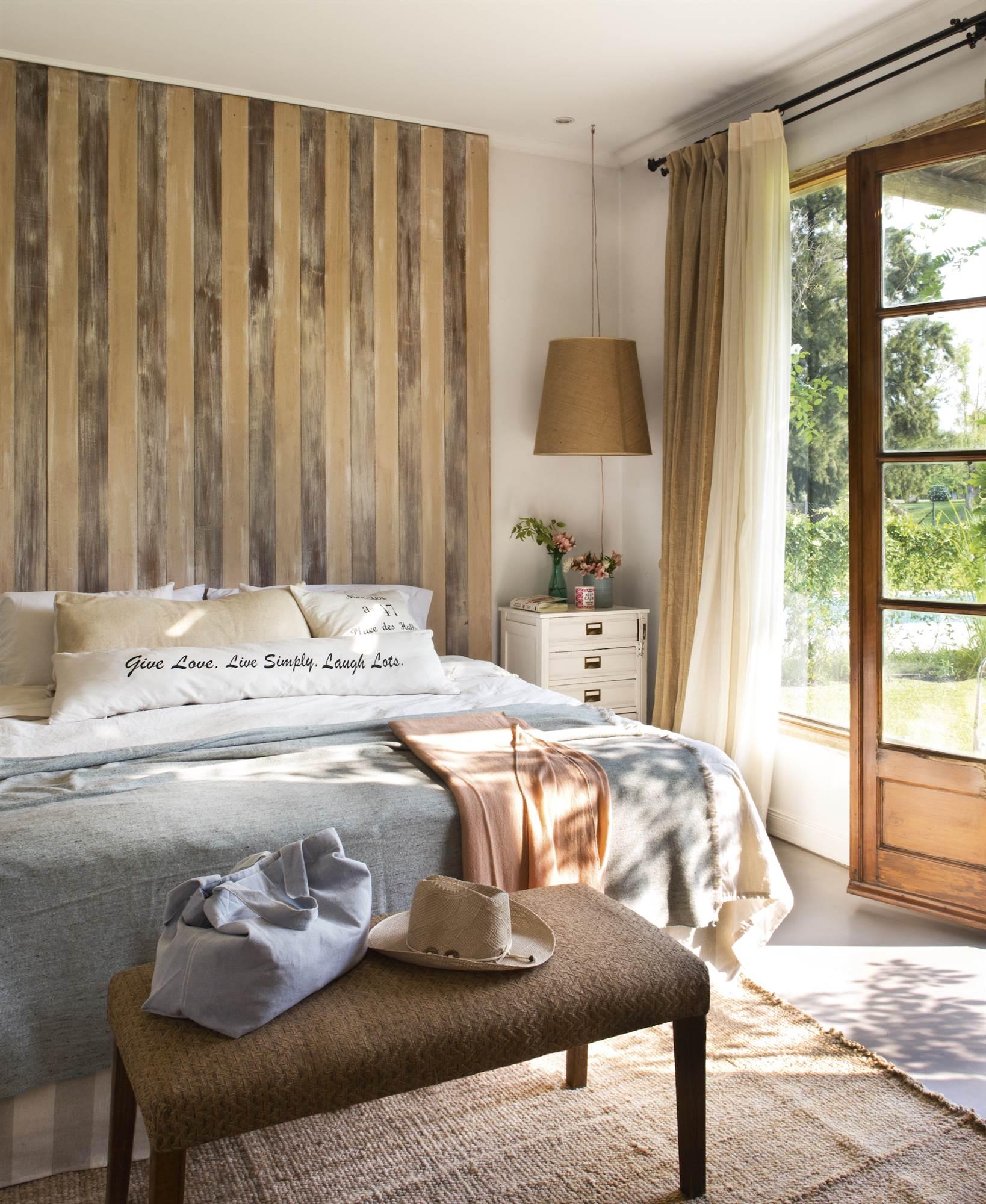 Cabeceros de cama originales for Decoracion de la pared para el dormitorio