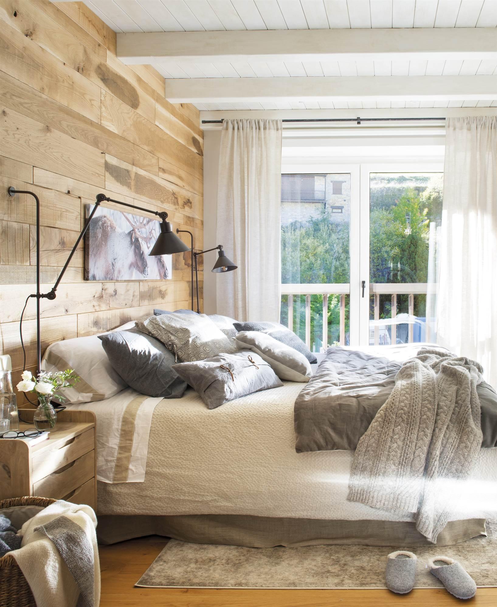Cabeceros de cama originales - Paredes en madera ...