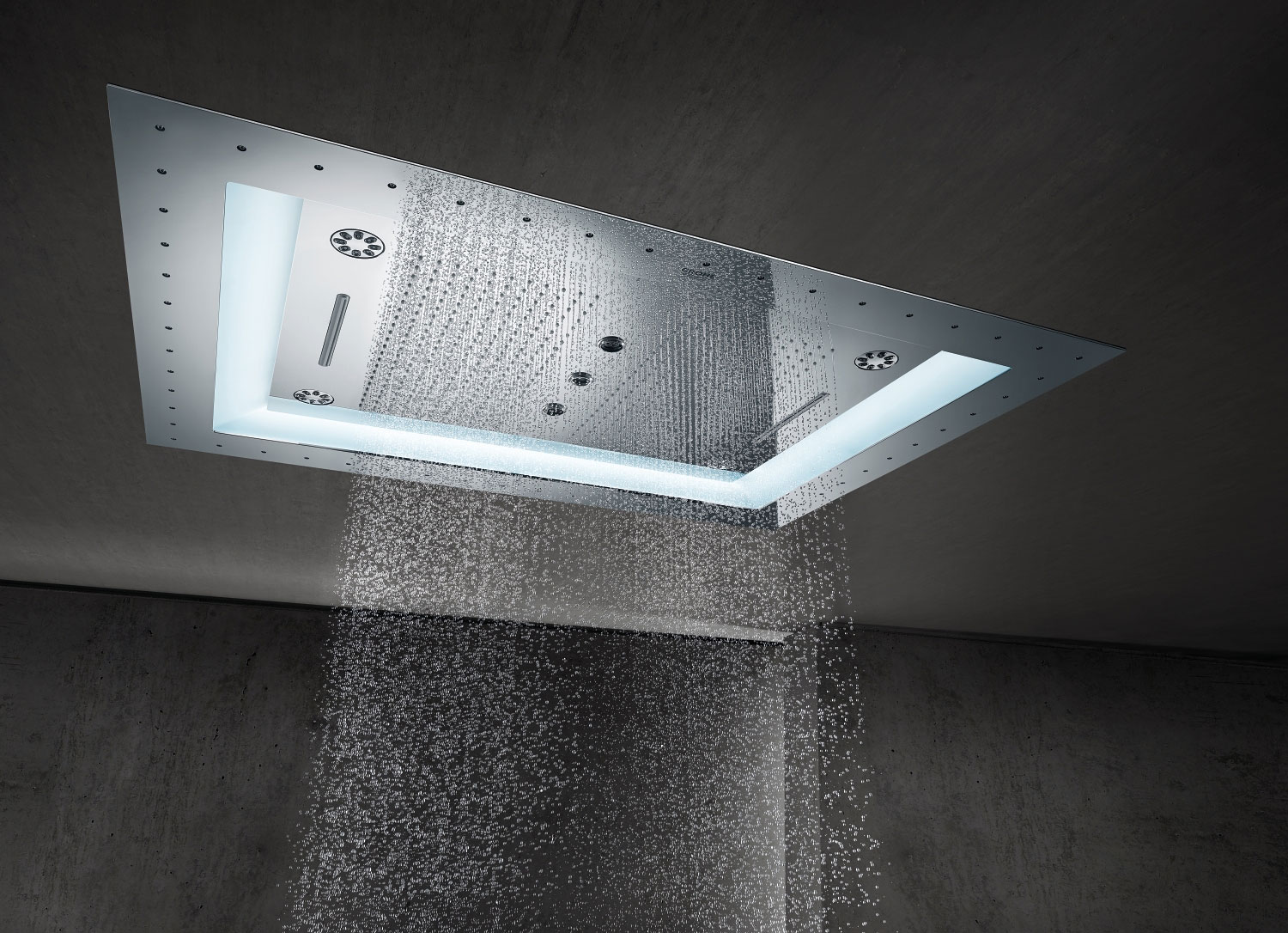 "GROHE SPA AquaSymphony 2b. Rainshower® F-Series 40"" Aquasymphony de Grohe."