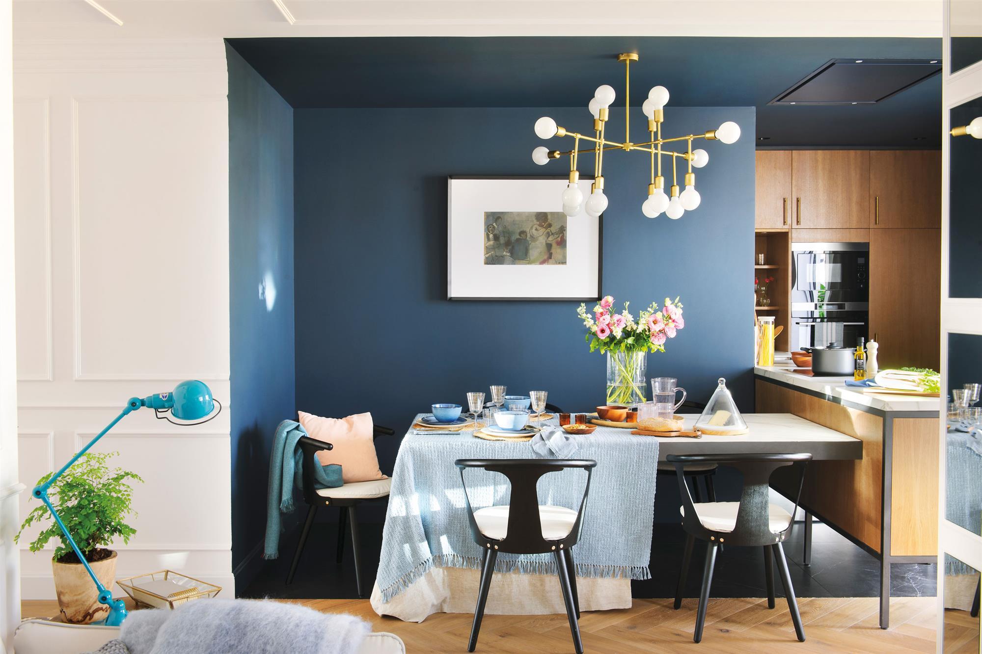 Tenemos la l mpara ideal para tu comedor for Alfombra azul turquesa del dormitorio