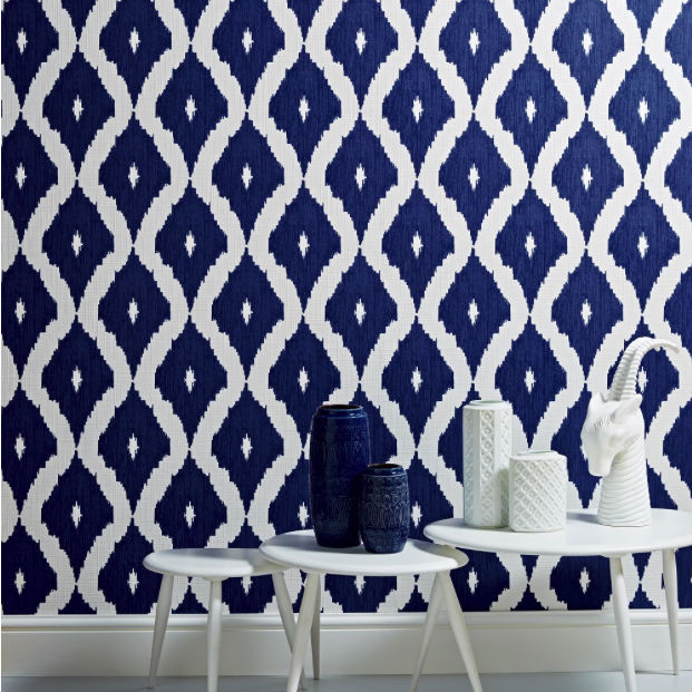Papel pared Kellys Ikat 2018. Devuelve la vida a la pared