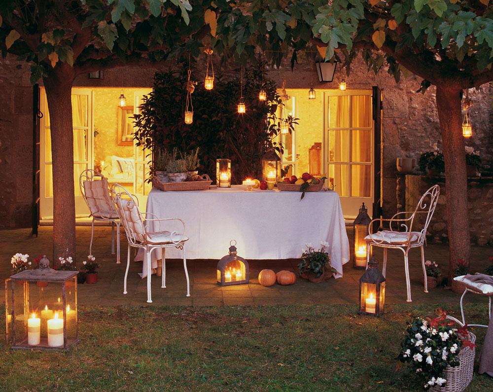 Celebra la verbena en tu terraza for Farolillos de exterior