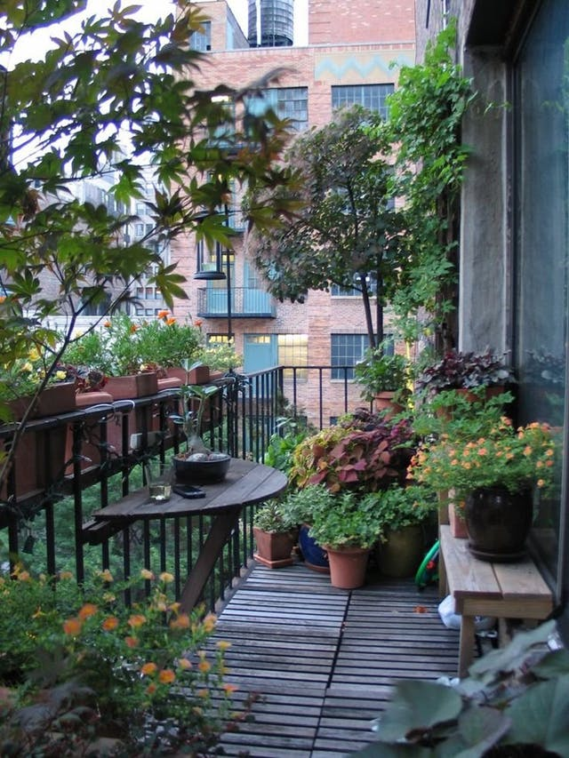 mcmaison. Un jardín en el balcón