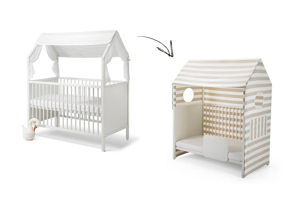Muebles evolutivos - Cuna de mimbre para bebe ...