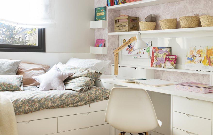 Habitaciones infantiles peque as en las que cabe todo for Habitaciones infantiles pequenas