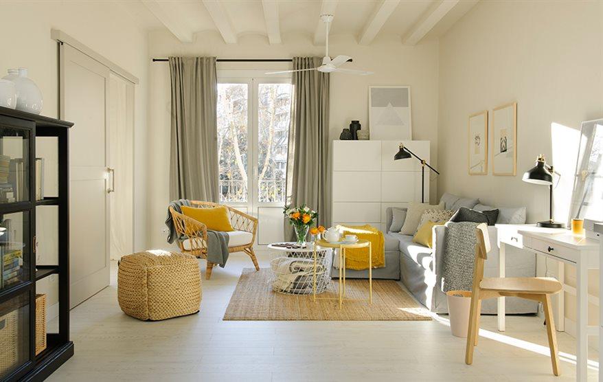 Siete claves para un sal n low cost y con sitio para todo - Ikea modulos salon ...