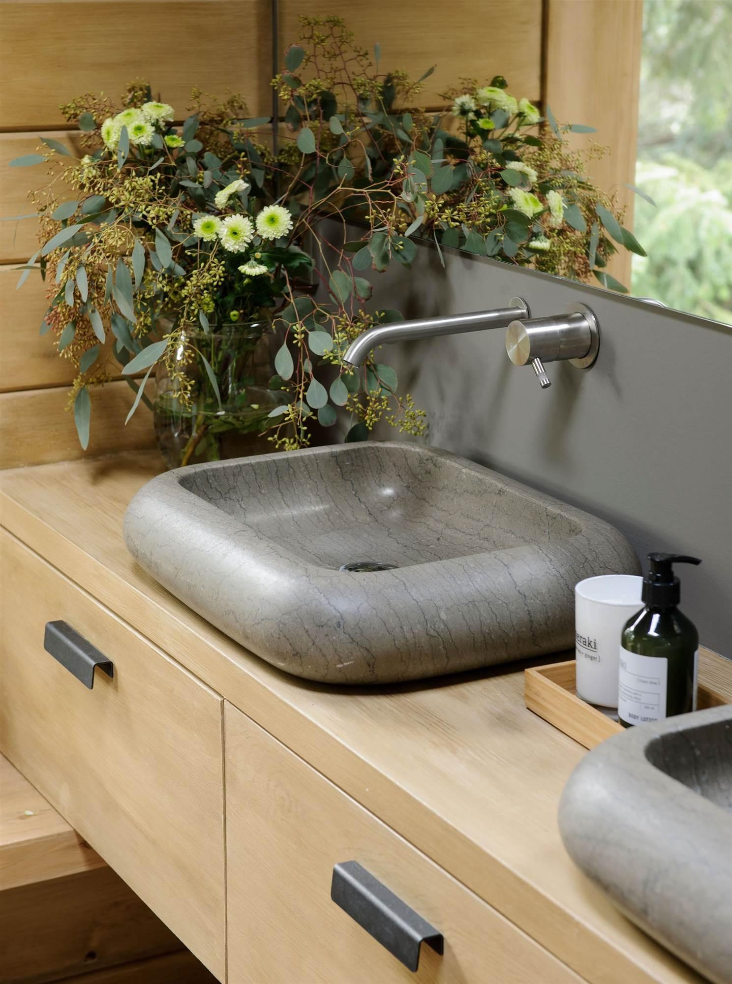 26 lavamanos bonitos estilosos y originales - Lavamanos sobre encimera ...