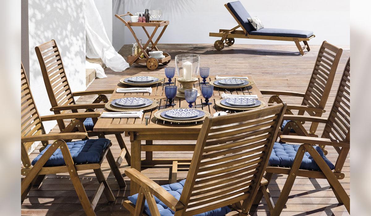 48c4b350 Colección de comedor New Tahoma El Corte Ingles piezas desde 39.95. Una  mesa de exterior