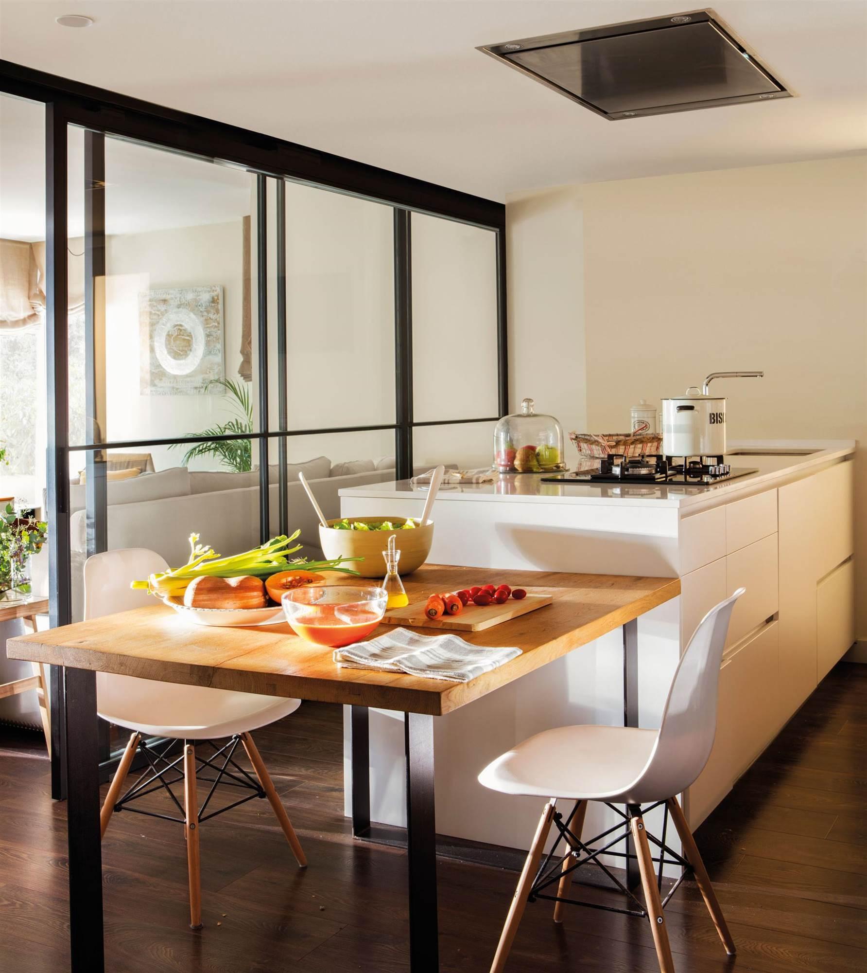 Islas de cocina - Isla de cocina con mesa ...