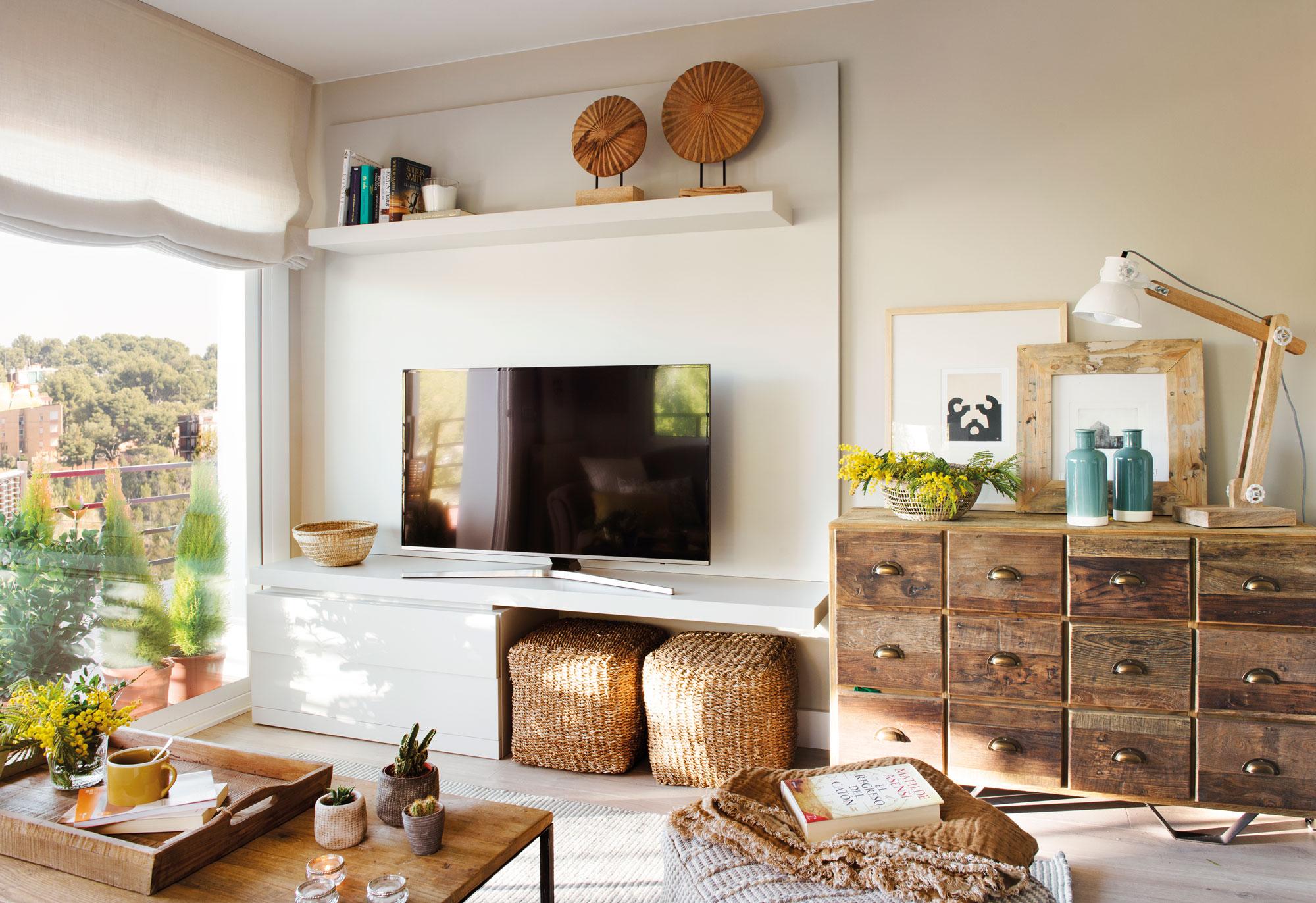 Muebles para espacios peque os for Living comedor en espacios reducidos