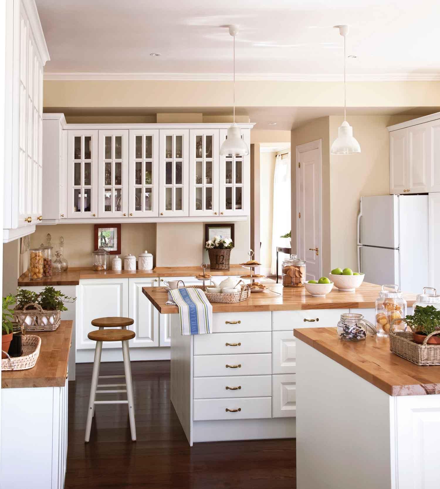 2147 fotos de cocinas - Encimera de madera para cocina ...