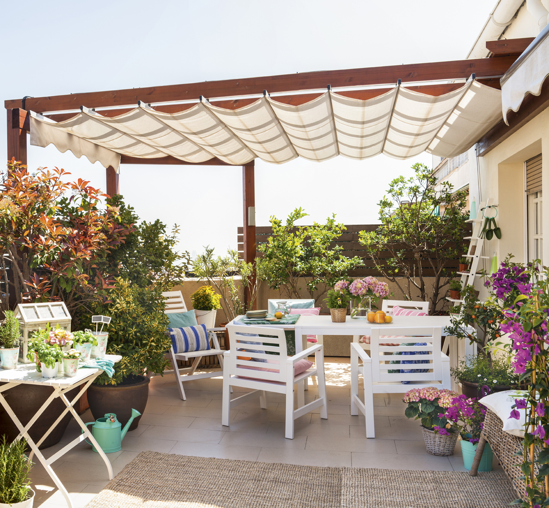 C mo elegir el toldo para la terraza ideal - Modelos de pergolas ...