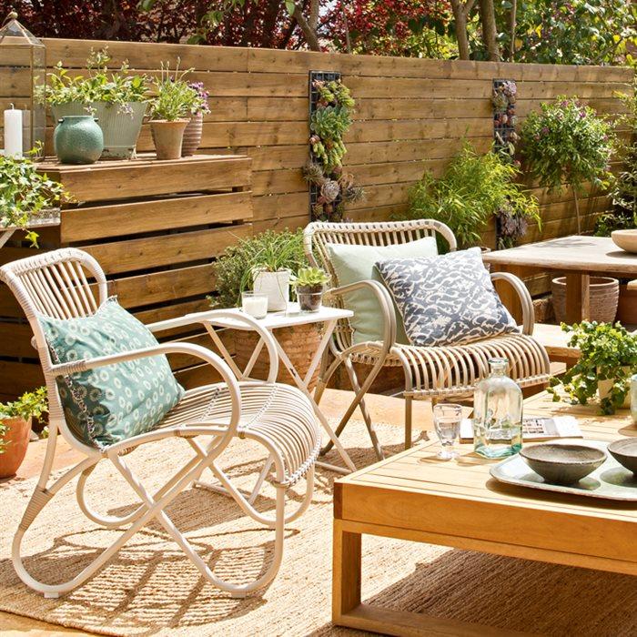 terrazas muebles mesas e ideas para tu terraza elmueble On muebles para patios exteriores