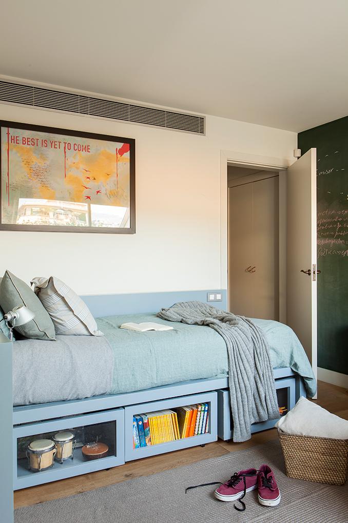 Almacenaje bajo la cama vamos a poner orden - Habitaciones juveniles con estilo ...