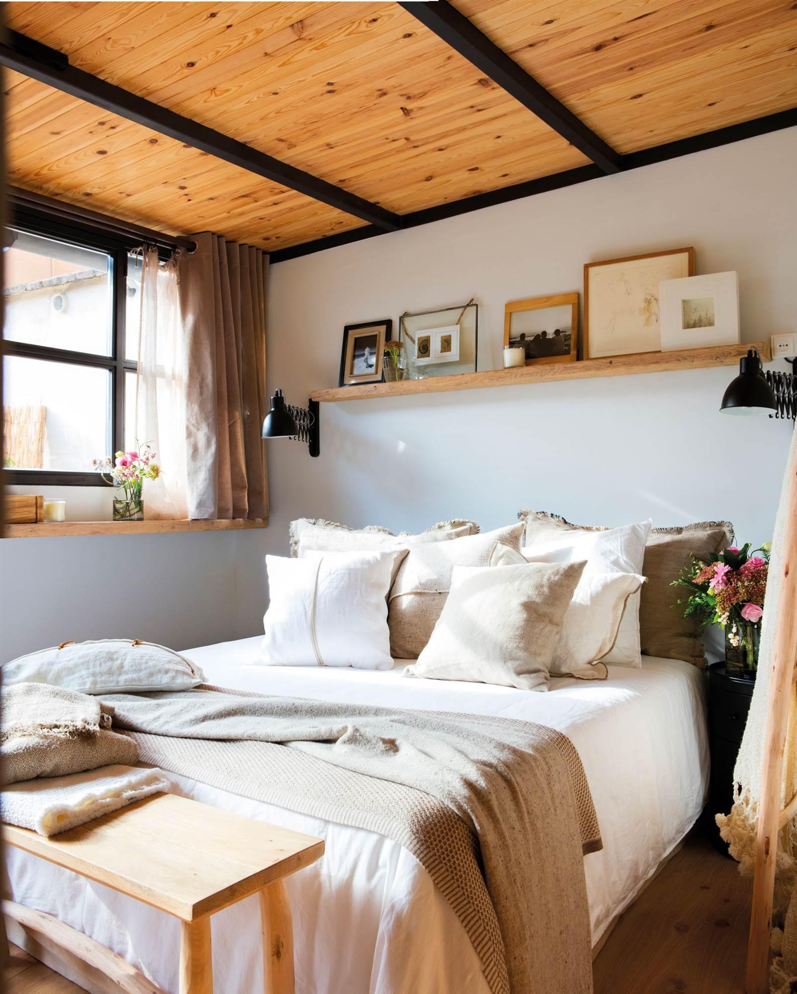 25 dormitorios modernos estilo el mueble - Dormitorios en blanco y madera ...