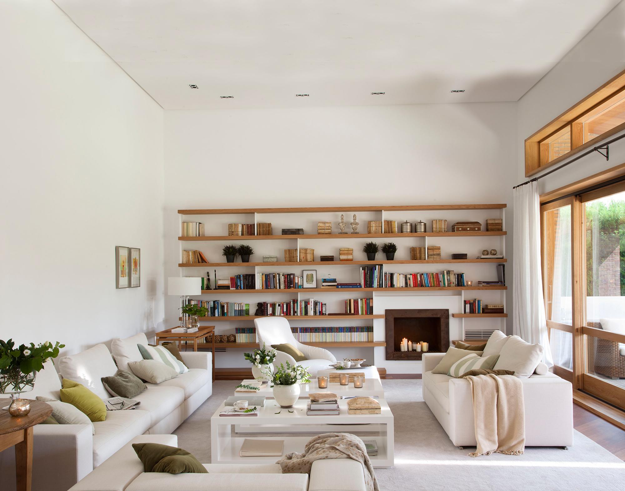30 salones modernos y acogedores - Salon moderno blanco ...