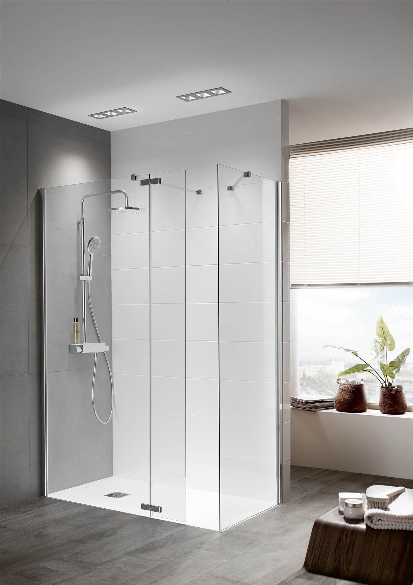 Claves para elegir la mampara de ducha for Como limpiar la mampara del bano