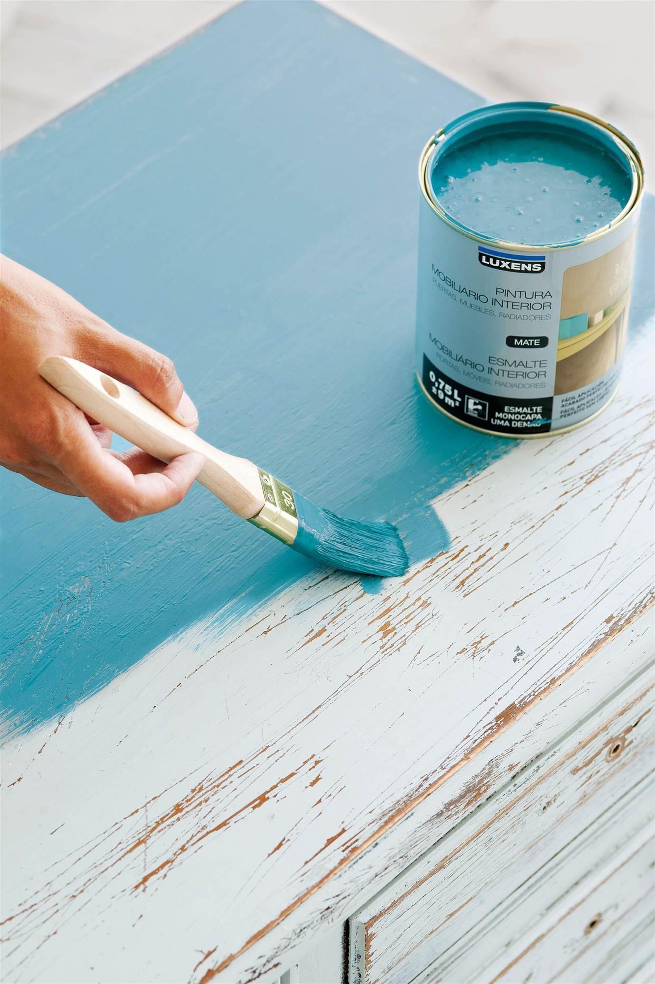 C mo pintar muebles antiguos modernos de madera - Pintura acrilica para muebles ...