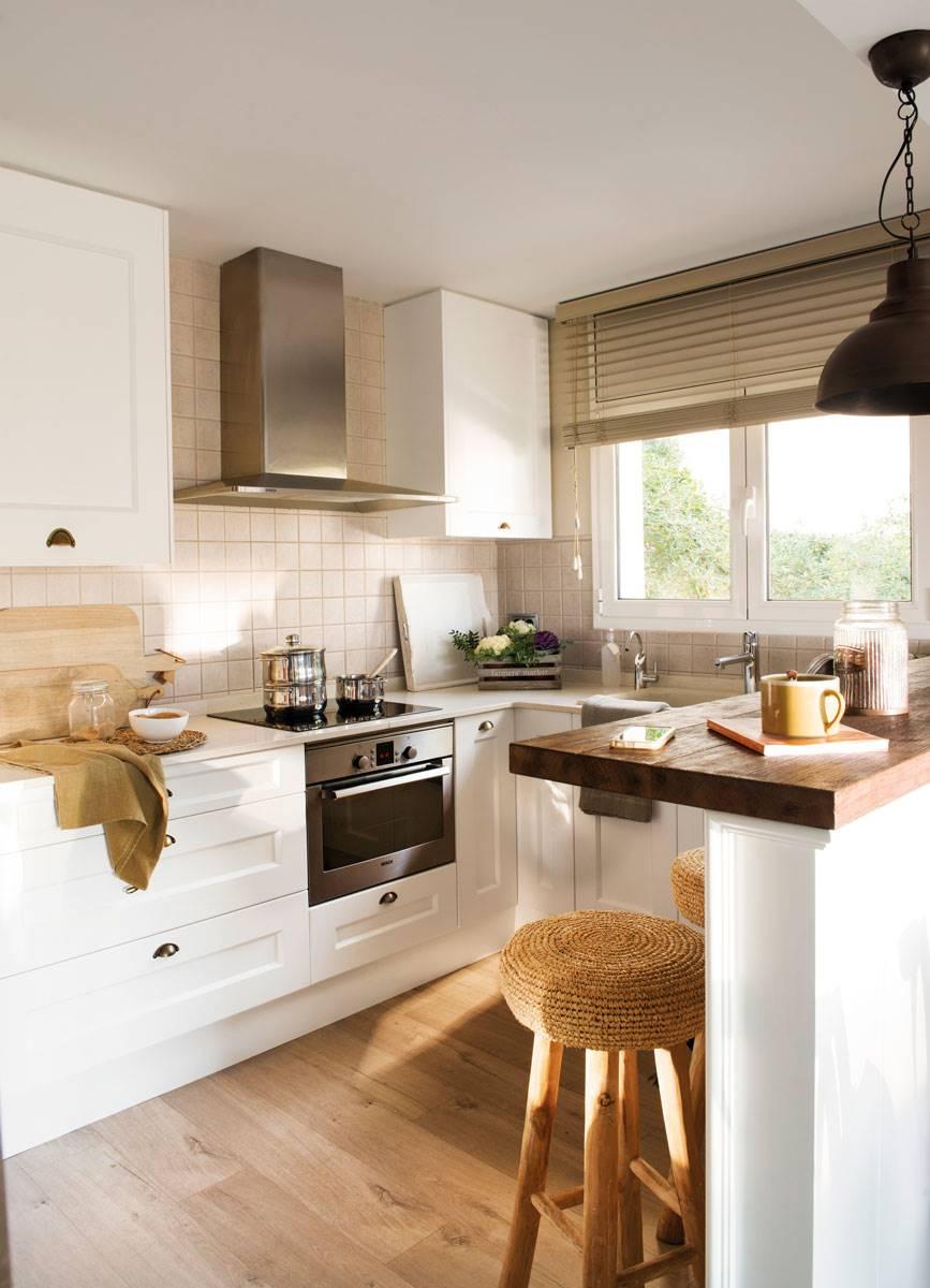 Cocinas Pequeñas Con Barra | 7 Cocinas Pequenas Y Reales