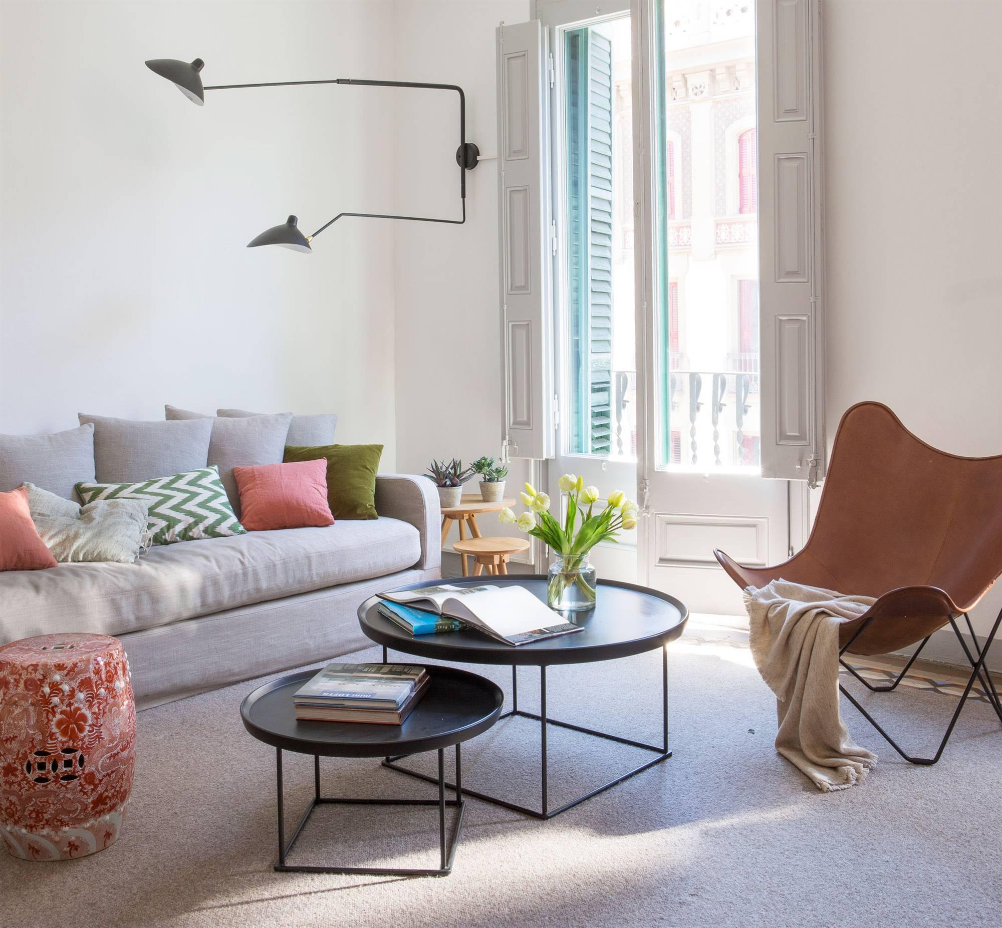 Mesas de centro ideas para decorarlas - Mesas salon redondas ...
