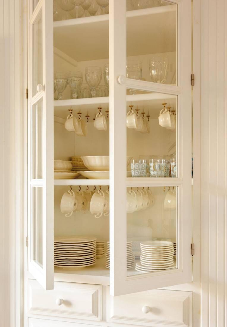 Ideas para aprovechar el espacio en las cocinas peque as - Muebles para vajilla ...