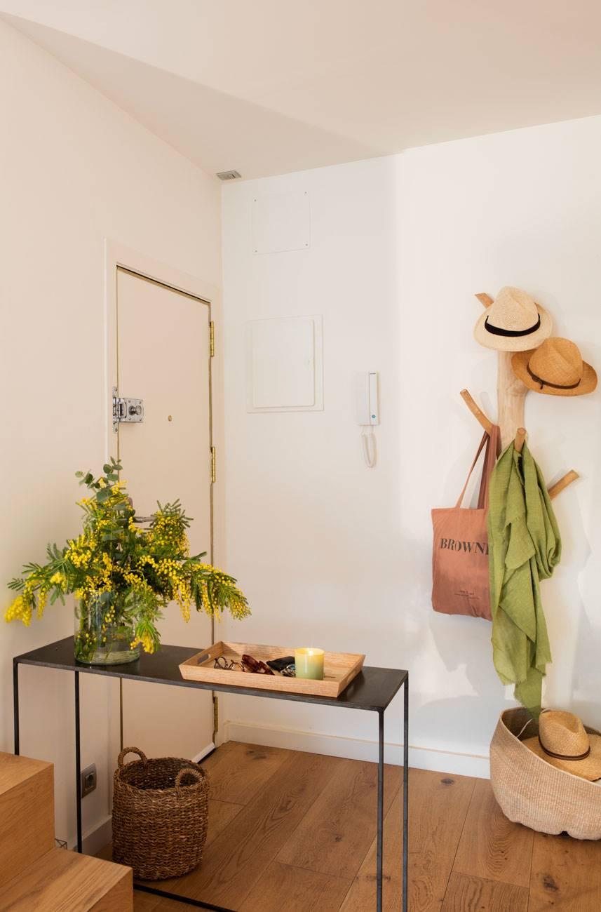 recibidor-pequeño-con-mesa-negra-y-perchero-forma-arbol-de-madera 480670 O. Sin obstáculos visuales