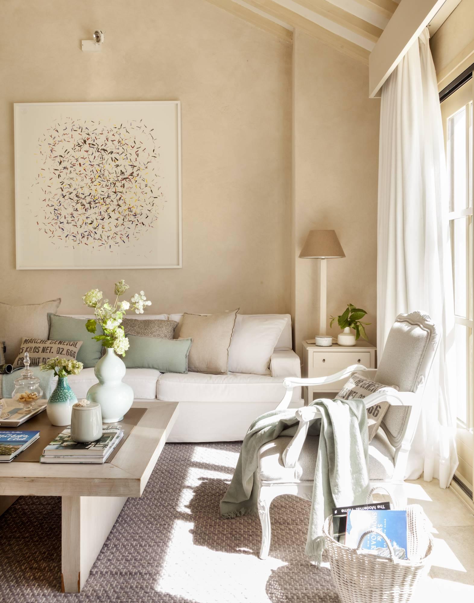 El color beige en la decoración: cálido, luminoso y versátil