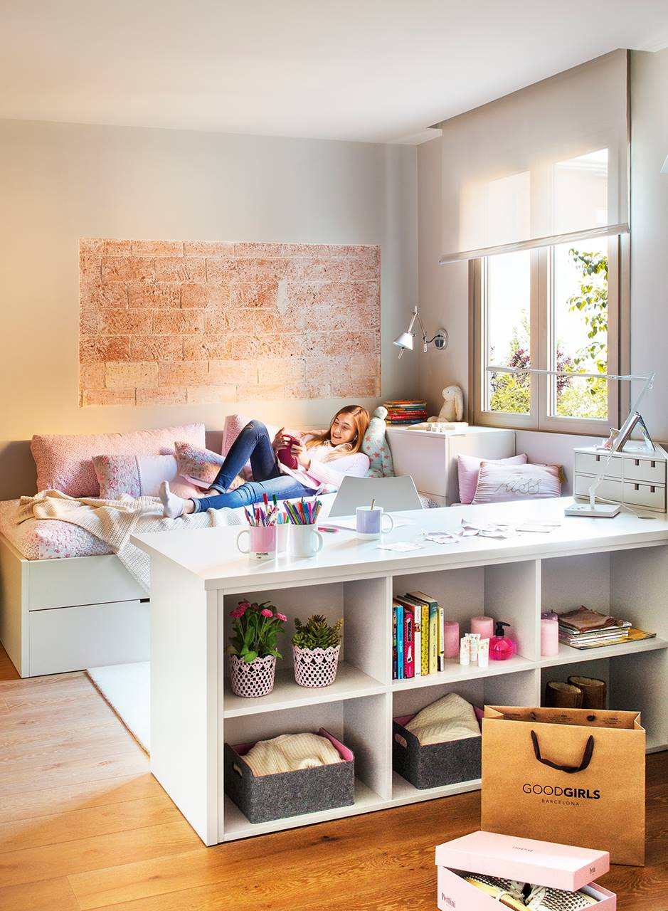 Dormitorios juveniles - Estanterias para habitaciones infantiles ...