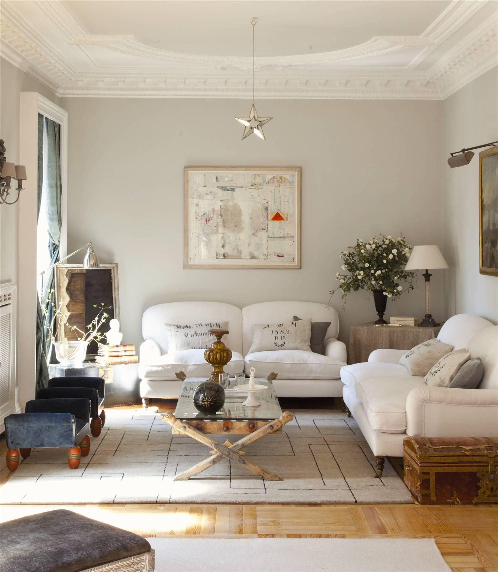 Lo bueno y lo malo de ser ordenado - Salon sofa gris ...
