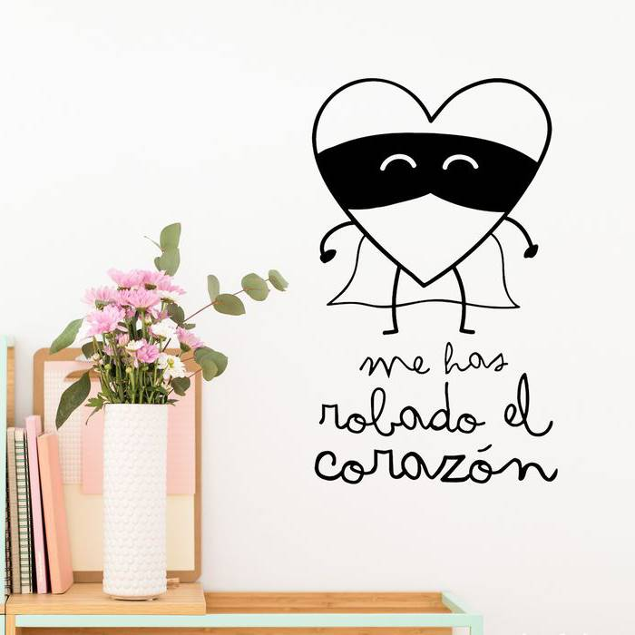 vinilo pared Mr Wonderful. Decoración mural