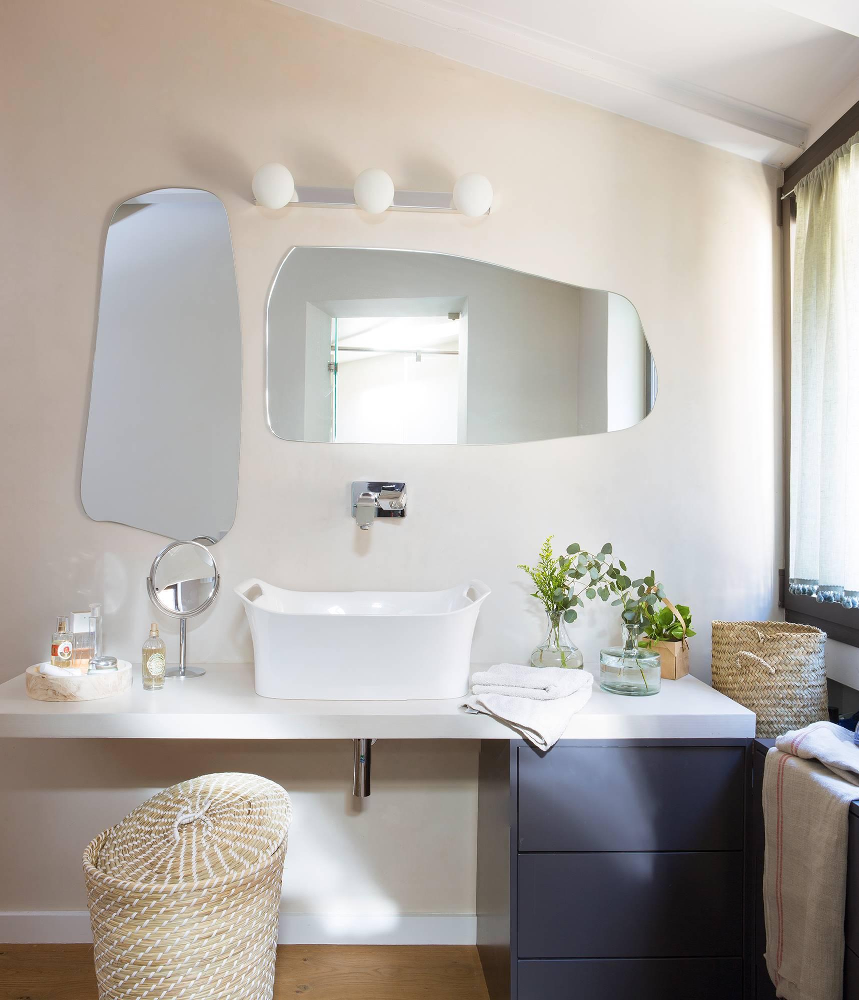 Apliques para el ba o c mo elegirlos - Lampara para espejo de bano ...