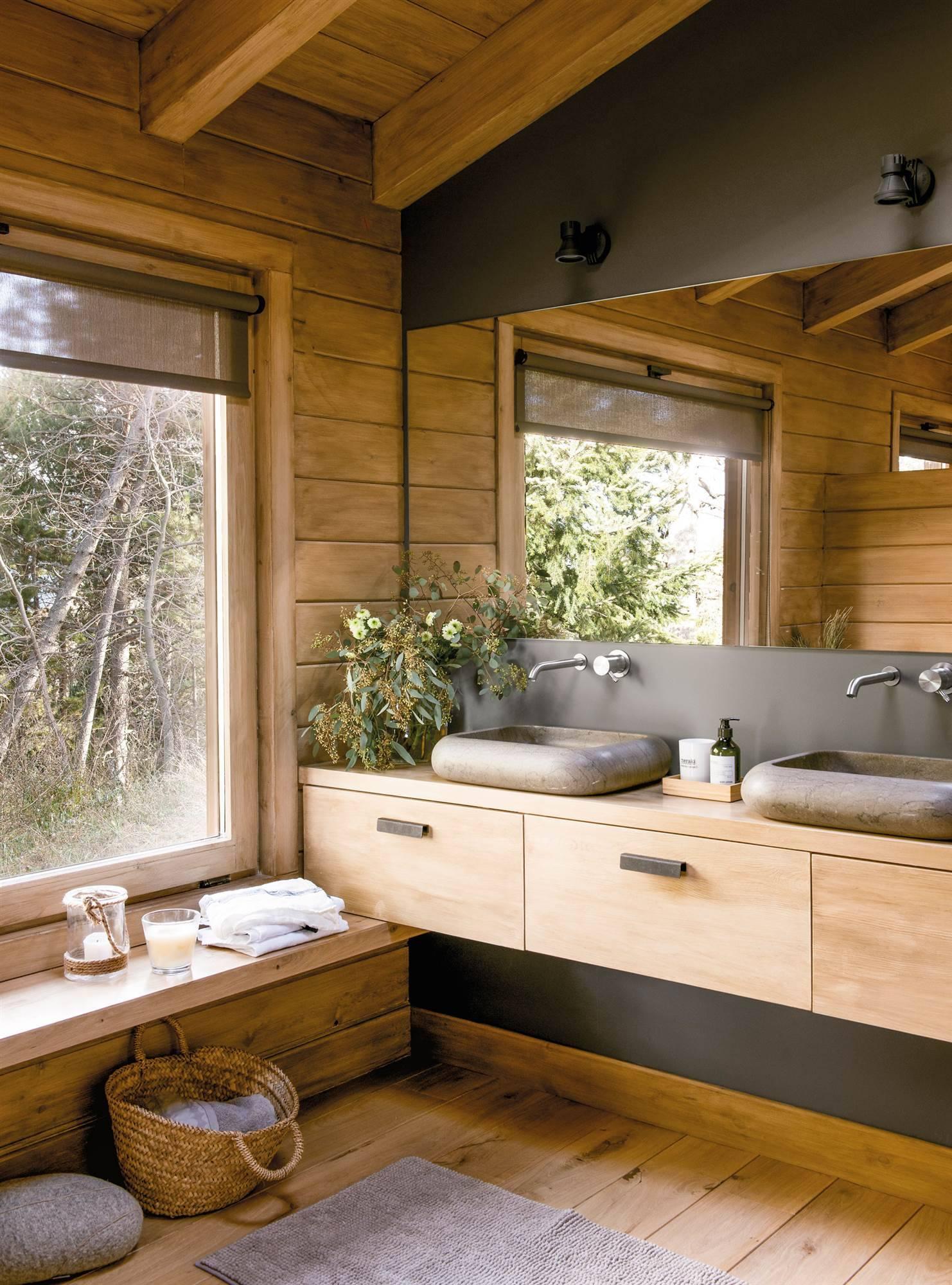 Muebles Bajo Lavabo Rusticos.Una Casa Rustica Hecha En Pinterest