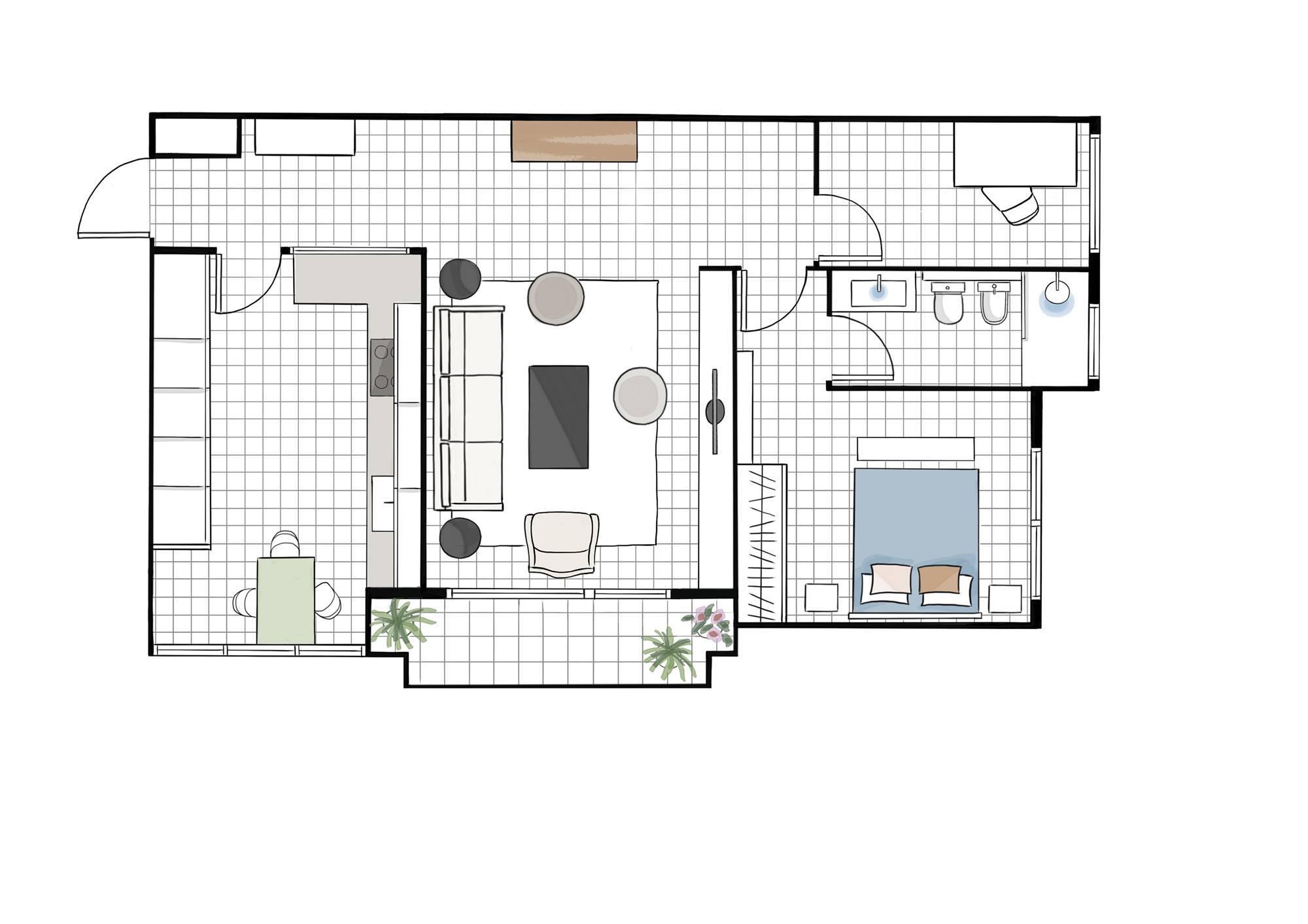 Negurigane SC地板。 50平米,更宽敞舒适