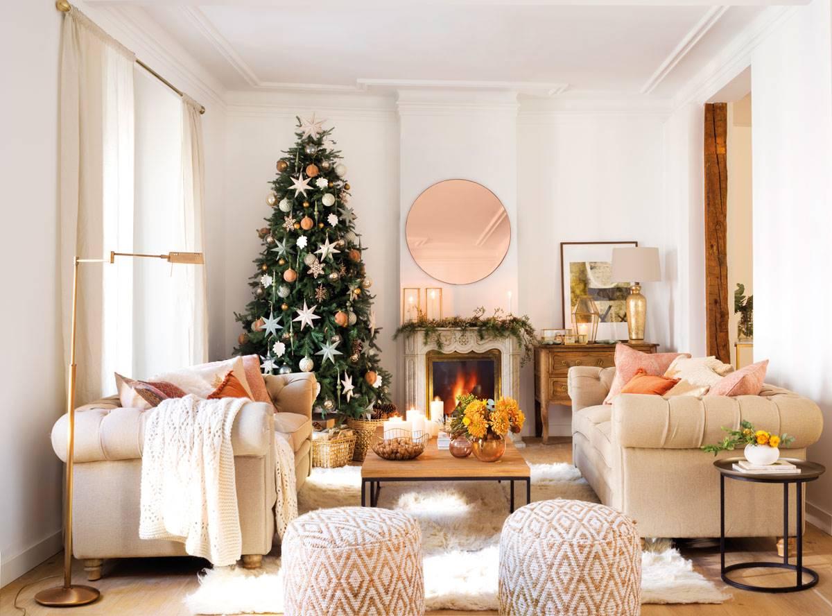 Decoraci n navide a para el sal n navidad el mueble - Adornos para el salon de casa ...