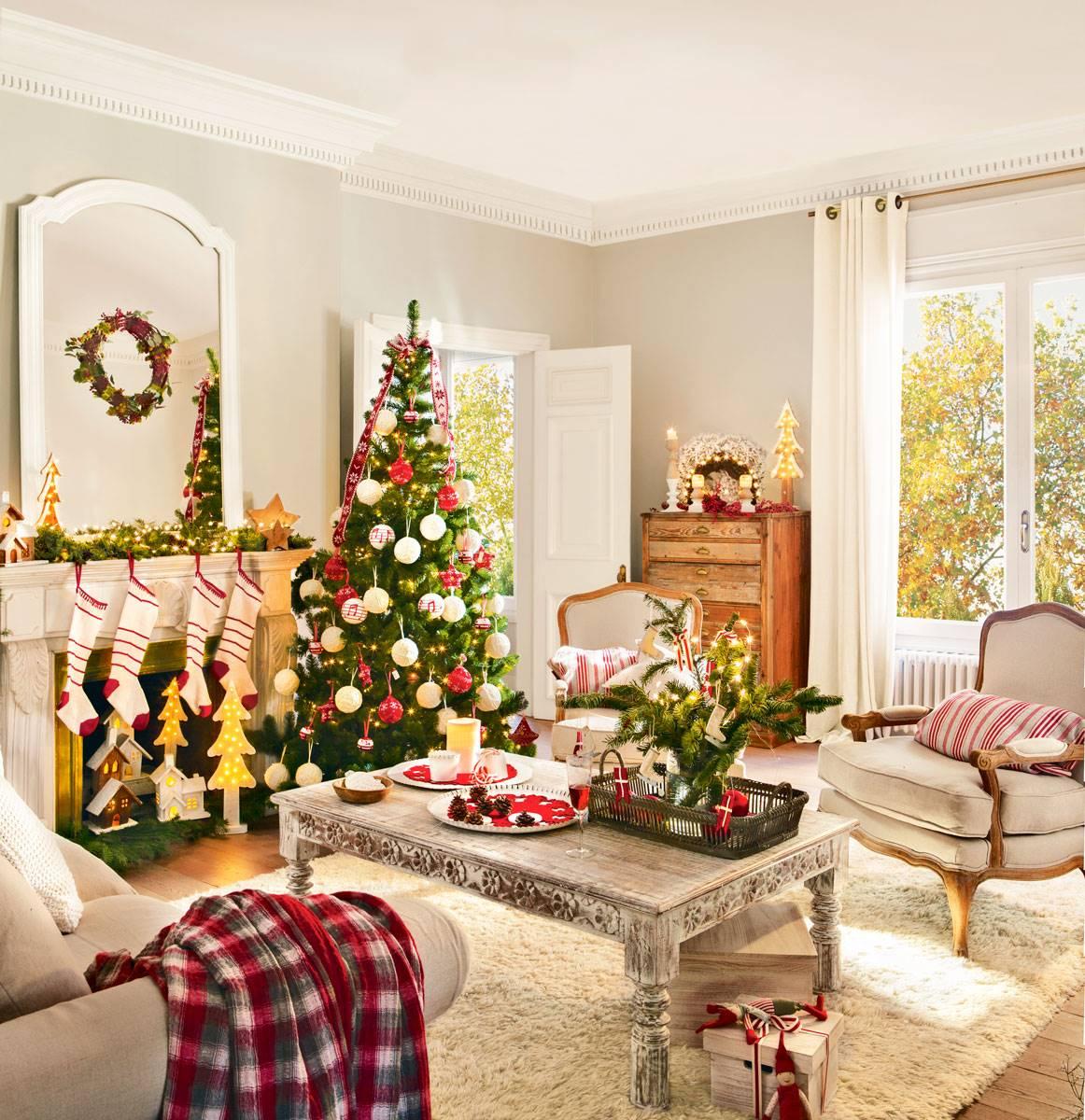 Decoraci n navide a para el sal n navidad el mueble - Arbol de navidad imagen ...