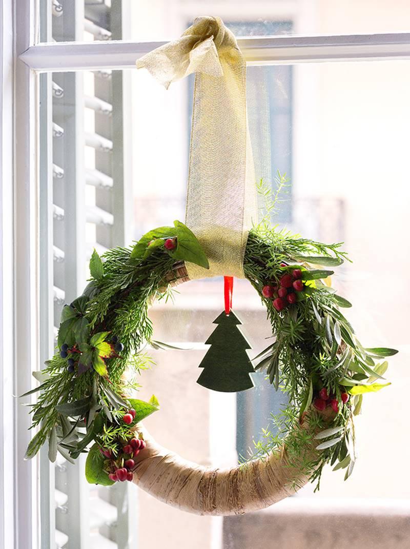 Coronas de Navidad Aro de madera