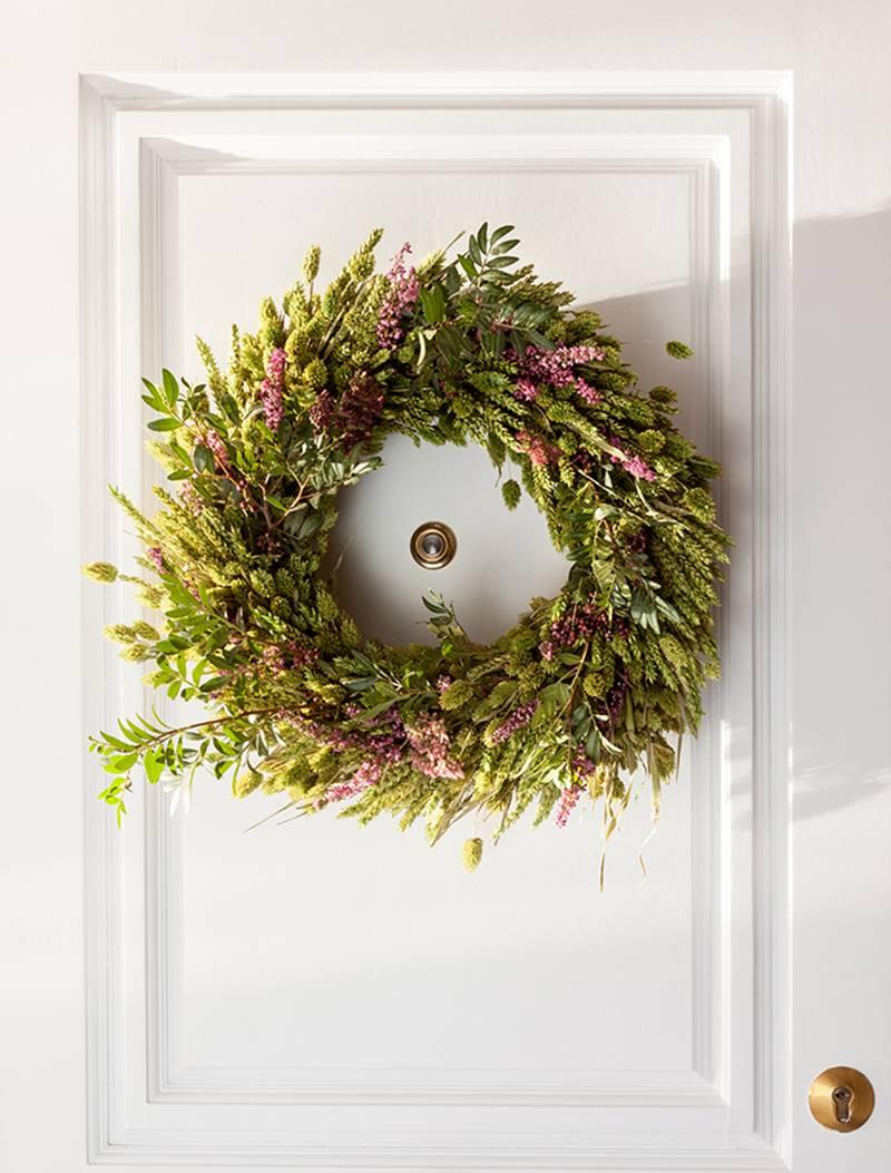 Coronas de Navidad Flores de lavanda