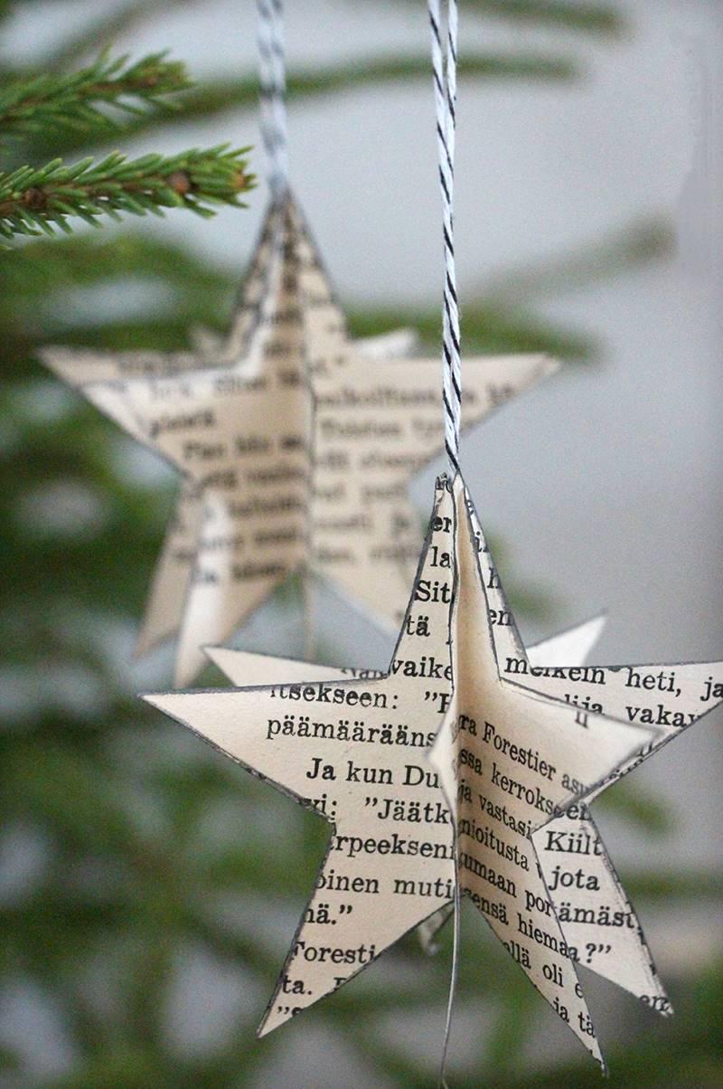 Plantillas De Estrellas Para Decorar.Adornos Para El Arbol De Navidad Muy Originales