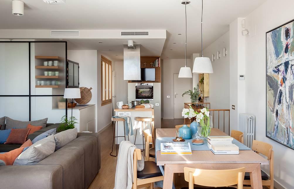 50 cocinas abiertas e integradas en el sal n o comedor - Salon y cocina integrados ...