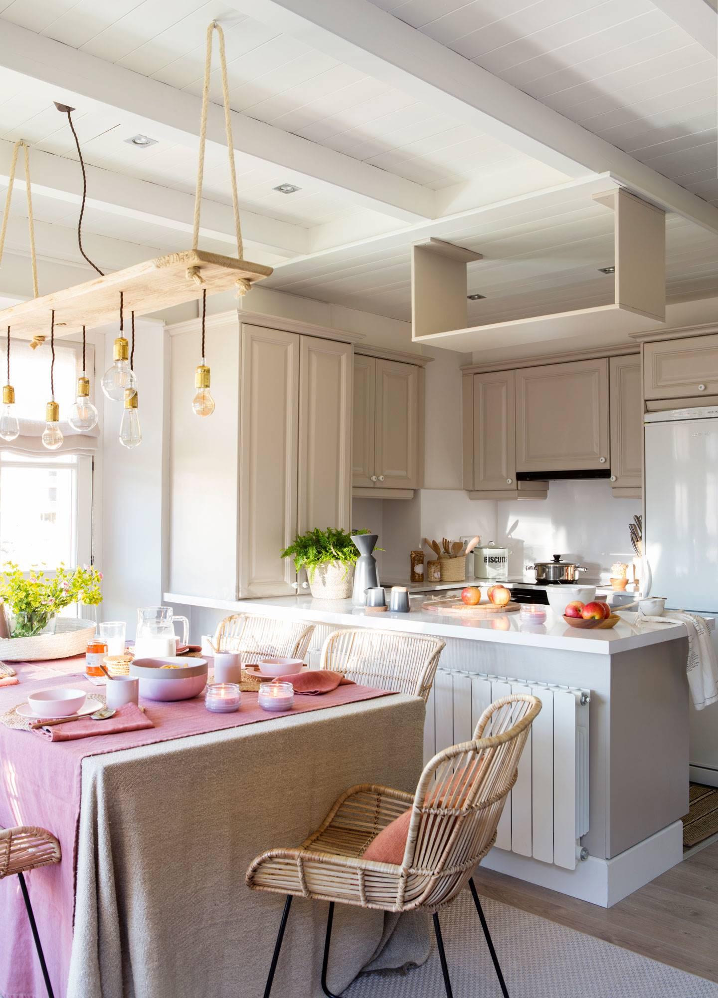 50 cocinas abiertas e integradas en el salón o comedor