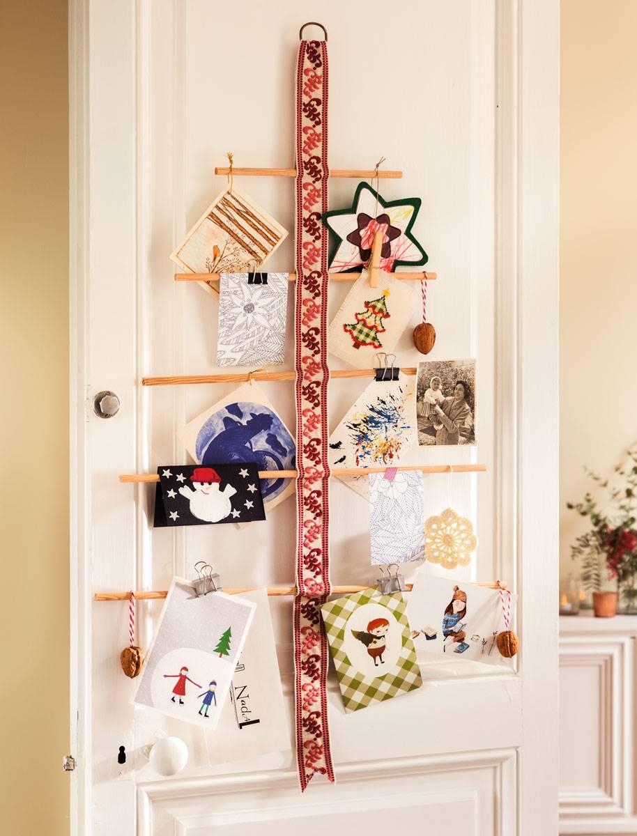 Manualidades Para Decorar Puertas En Navidad.Manualidades Navidenas El Mueble