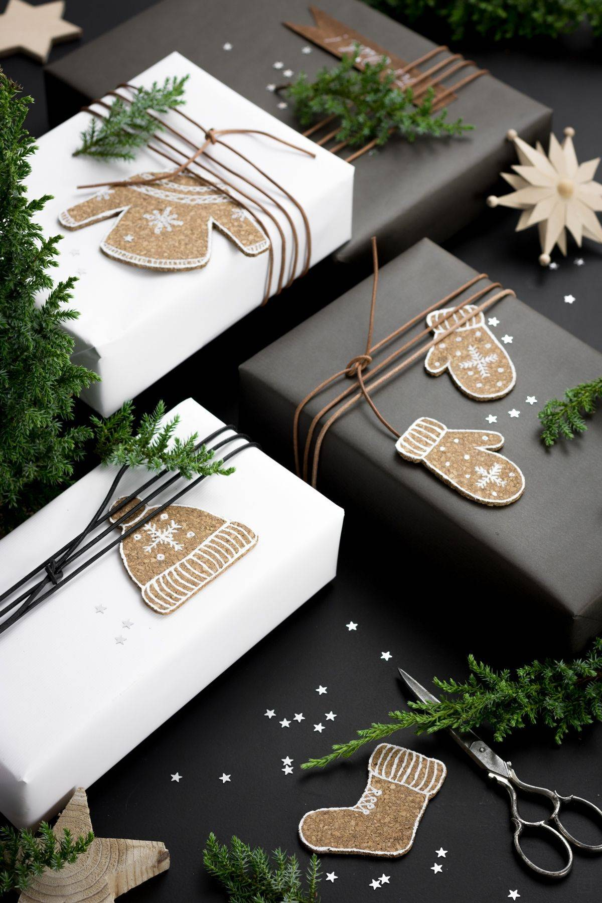 22. Decorativas figuras de corcho para personalizar los regalos