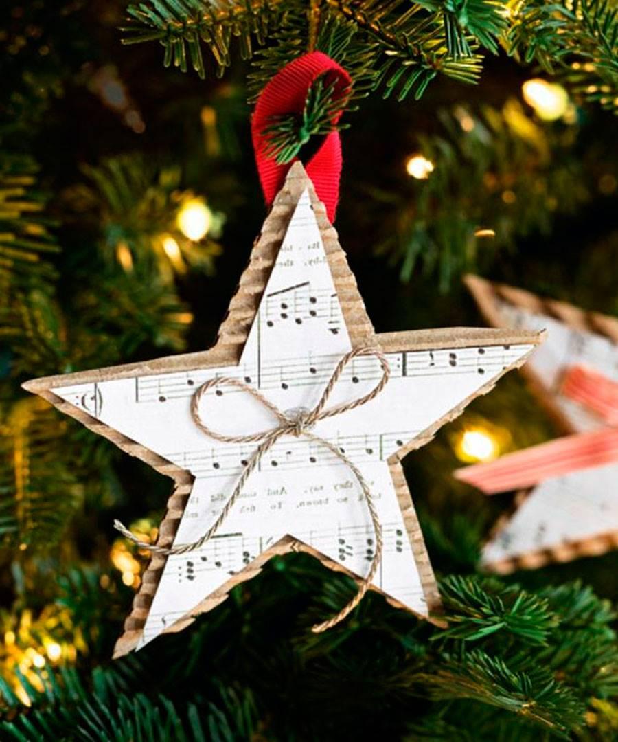 DIY-NAVIDAD-4. Estrellas navideñas de papel para el árbol