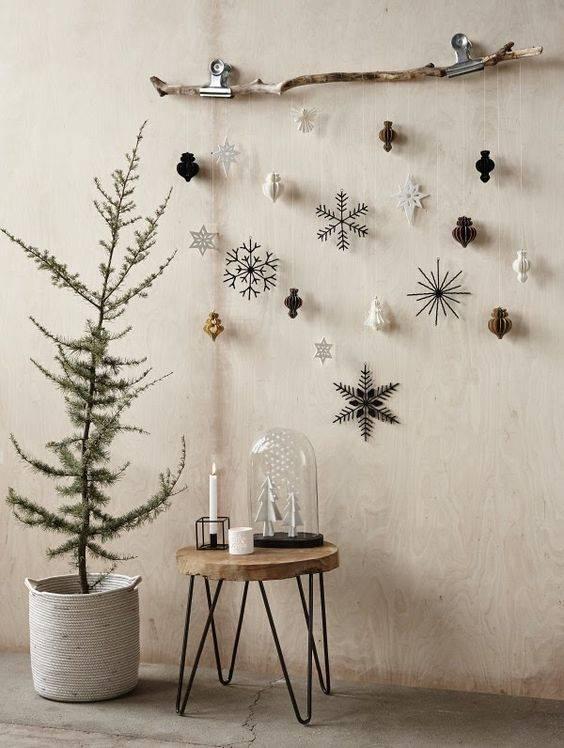 Guirnalda de Navidad. Un colgador DIY muy navideño