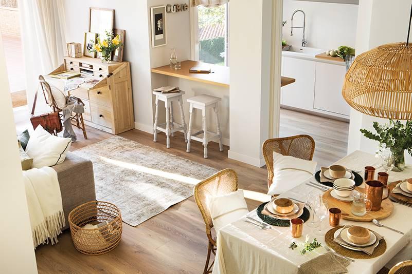 17 barras de cocina bonitas y pr cticas for Cocina abierta en salon area pequena